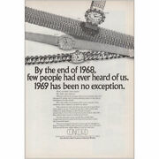1969 Concord Watch By The End Of 1968 Vintage Print Ad