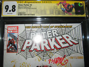 2010 Cgc Peter Parker 2 Spider-man Cover And Signed By Skottie Young Rare 9.8