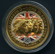 2015 Queen Elizabeth Ii Crowning Moments 1 Crown Coin 24k Gold Plated