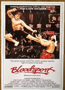 Bloodsport A3 Poster Signed By Jean Claude Van Damme And Bolo Yeung