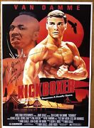 Kickboxer A3 Poster Signed By Jean Claude Van Damme And Michel Qissi