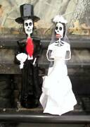 Day Of The Dead Paper Mache Wedding Couple Bride Groom New Mexico