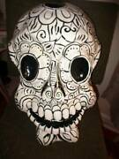 Large 18 Day Of The Dead Paper Mache Mask Halloween Decoration