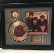 Beatles Framed 24k Gold Record And Picture Coa Is Included