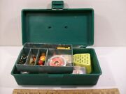 Vintage Big Pal Tackle Box Loaded With Ice Fishing Lures And Tackle-5dx10wx3h