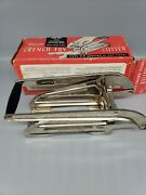Vintage Ecko Miracle French Fry Potato Cutter Red Wood Handle With Box 0001