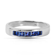 Brand New 0.6 Carat 14k Solid White Gold Wind Blows Joy Sapphire Ring