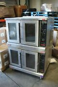 Lang Accu-plus Electric Double Stack Full Size Convection Oven 1 Or 3 Phase Ecof