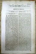 1701 London Newspaper British Forces From Ireland Land At Port Royal In Jamaica
