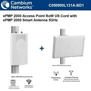 Cambium Epmp 2000 Access Point Row And Us Cord W/ Epmp 2000 Smart Antenna 5ghz