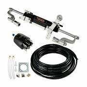 Mophorn Hydraulic Steering Kit 300hp Hydraulic Steering Compact Cylinder Hydr...