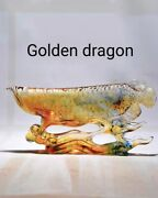 Glass Handcrafts Fish Decorative Ornaments For Living Room Office Decoration