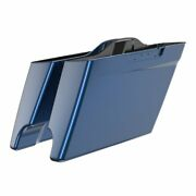 Us Stock Big Blue Pearl Extended Bags Stretched Saddlebag Fits Harley 14+