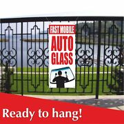 Fast Mobile Auto Glass Banner Vinyl /mesh Banner Sign Flag Services Windshield