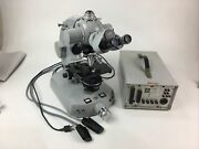 Carl Zeiss Iii Rs Photomicroscope Microscope W/ 4 Objectives And Power Supply