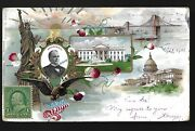 Rare 1900 Wm Mckinley Re-election Pioneer Pmc Postcard W/ Campaign Slogan And Name