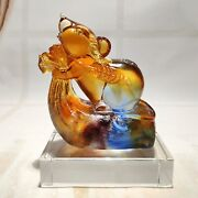 Handmade Glass Mouse 2020 Mascot Decoration Villa Entrance Tv Cabinet Light