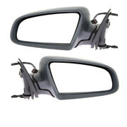 05-08 A6 And 07-08 S6 Rear View Door Mirror Power Heated W/puddle Lamp Set Pair