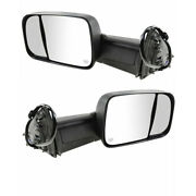 13-18 Ram 2500/3500 Truck Rear View Tow Mirror Power Heated W/memory Set Pair
