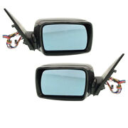 02-06 X5 Rear View Mirror Assembly Power Heated W/memory Puddle Lamp Set Pair