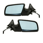 04-07 Bmw 5-series Rear View Door Mirror Assembly Power W/blue Glass Set Pair