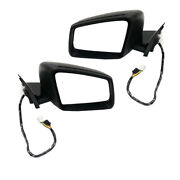 10-13 Benz S-class Mirror Power Folding W/memory Signal And Puddle Lamp Set Pair