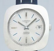 Unused Longines Admiral Cushion Case Automatic Winding Vintage Watch 1970and039s