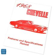 1968 Chevelle Features And Specifications Manual Brochure Each