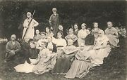 Mount Lebanon Ny A Group Of North Family Shakers Photo By H. M. Gillett Postcard