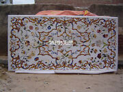60x30 Marble Italian Dining Table Top Floral Inlaid Dining Room Decors H4029
