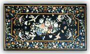 5'x3' Marble Top Dining Table Bird Floral Collectible Inlay Home Decorative E971