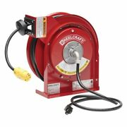 Reelcraft L-4545-123-3 - 12/3 X 45 Ft. 15 Amp, Single Outlet Electric Cord Reel