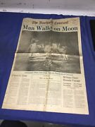 The Hartford Courant News Newspaper July 211969 Men Walk On The Moon