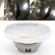 Chrome Round Aluminum Gas Cap Fuel Tank Cover For Harley Street 750 500 2015-19