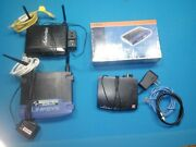 Lot Of 4 Wireless Routers And Hub. Lynksys Wireless 2.4 Zoom Cable Actiontec Rout