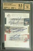 Gem Mint 2004/05 Sp Au Sign Of The Times Triple Auto Nash/spezza/staal/25 Tsnss