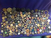 Huge Lot Of Vintage Buttons Button Collection Bakelite And More