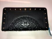 Balmain Black Leather Coin Wallet - New - Authentic