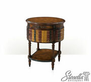 L50310 Theodore Alexander Round Leather Faux Book Table Model 5000-465 New