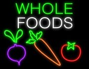 New Whole Foods Artwork Real Glass Neon Sign 32x28 Beer Lamp Light