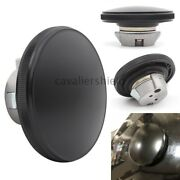 Black Round Aluminum Front Oil Gas Cap Fuel Tank Cover For Harley Street 750 500