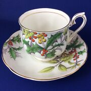 Royal Albert Flower Of The Month - Holly - Bone China Tea Cup And Saucer