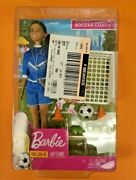 New Barbie You Can Be Anything Soccer Coach Playset Brunette Soccer Coach Doll