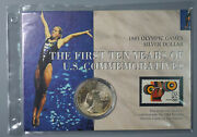 1983-p Los Angles Olympics Silver Dollar Coin And Stamp Set