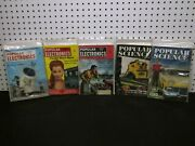Lot Of 5 Vintage Popular Electronics Science How-to-do Magazine 1958 1957 1955