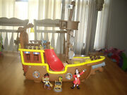 Euc Jake And The Neverland Pirates Musical Talking Pirate Ship Boat With Figures