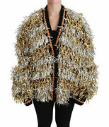 Dolce And Gabbana Jacket Gold Silver Cardigan Sweater Coat It40/ Us8 / M Rrp 3000