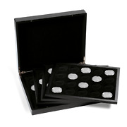 Black Lighthouse Quattro Deluxe Presentation Case For 80 38mm Coin Capsules Gift
