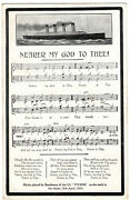 Rms Titanic Memorial Post Card National Series White Star Line Olympic Interest