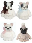 Hand-painted Collectible Doll Baby Pug French Bulldog Dog Marble Toy Size 19 Cm